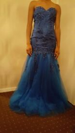 Stunning Size 8 Royal Blue Mermaid Sweetheart Prom Dress