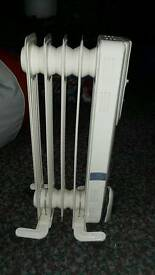Oil fill radiator