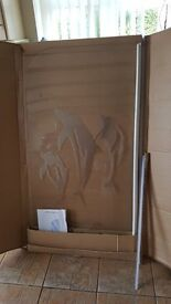 Bath shower screen with dolphin print, New, unused and still in the original packaging
