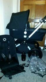 Bugaboo cameleon 3 all black fabric in great condition! !!