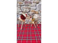 Wooden Xmas Reindeers