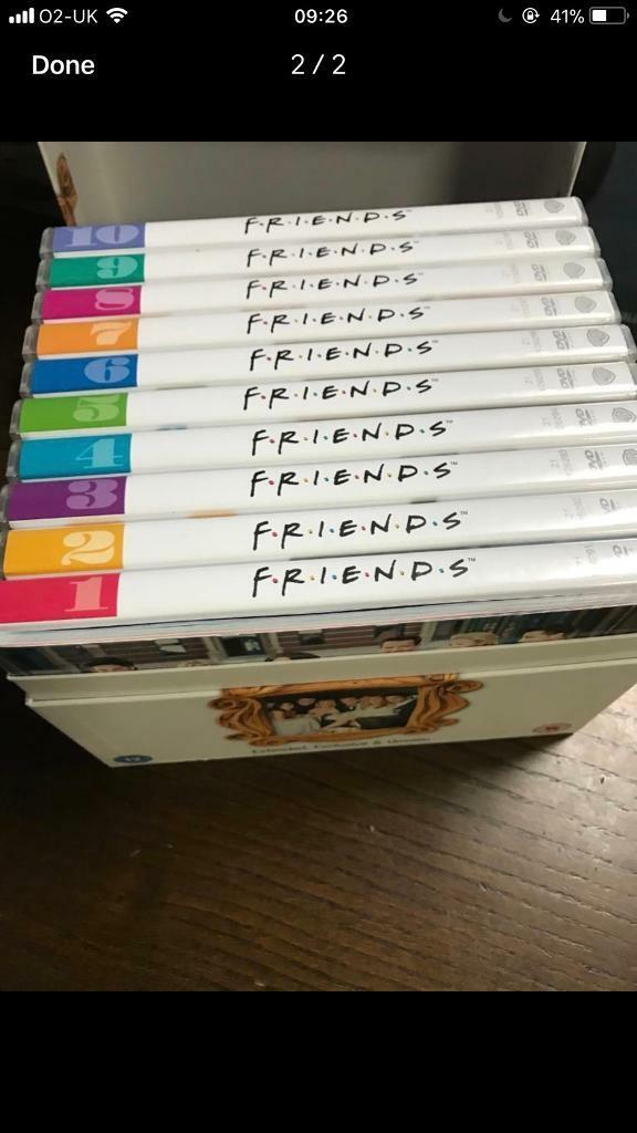 Friends dvd box set seasons 1-10 full complete good condition | in ...