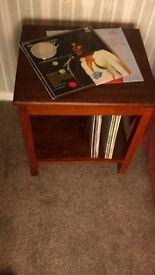 Retro LP Storage /Coffee Table