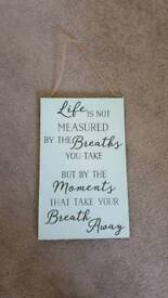 Quote sign - perfect gift