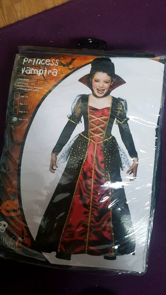 Halloween Costumes For Girls Age 13.Girls Princess Vampire Halloween Costume Age 11 13 In St Mellons Cardiff Gumtree