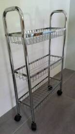 Chrome storage rack