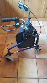3 wheel Rollator with bag