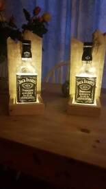 Led bottle lamps with hanger sconces