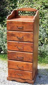 Sheesham wood tall boy chest of drawers