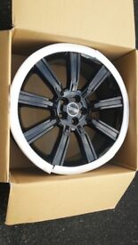 Genuine Range Rover 22 Stormer Alloy Wheels - No Tyres - Professionally Refurbished In Gloss Black -