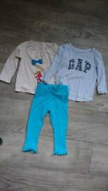 GAP baby girls tops and trousers bundle 12-18 months