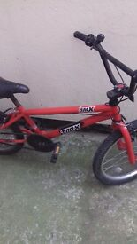 RED BMX BIKE 1 tire needs pumping