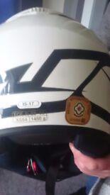 Small crash helmet wurh double visor sun/rain