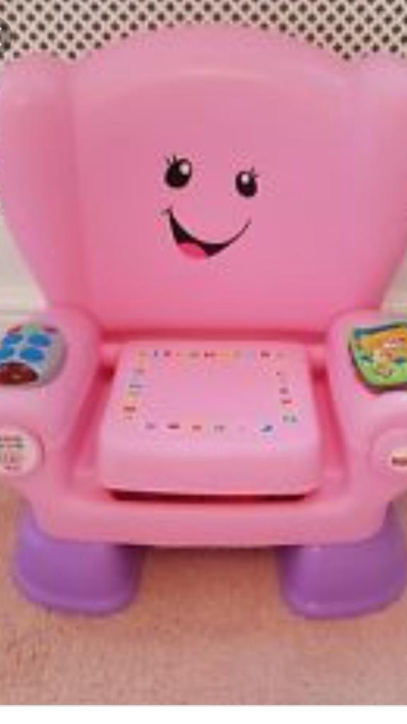 Pink laugh and learn chair