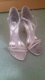 Silver diamonte shoes