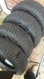 185/65R15Malatesta polaris m+s tyres x 4
