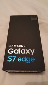 Empty Samsung Galaxy S7 Edge bix with Orginal Accessories Brand New