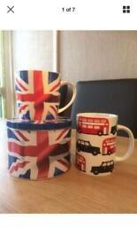 Swinging 60s mug set vintage