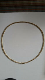 18ct/18k 750 yellow gold heavy necklace 11grams hallmarked,stamped