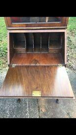 Yew antique cabinet/desk