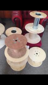 Shabby chic project reclaimed wooden reels
