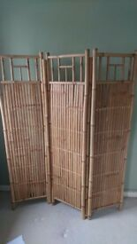 Bamboo three panel screen