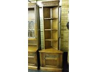 Old Charm Light Oak Corner Cabinet