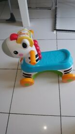 Fisherprice ride along zebra