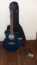 Electro Acoustic Guitar with Case and Accessories