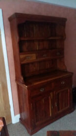Rustic Style Dresser, Table & 4 Chairs