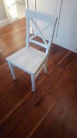 6 white John Lewis Dining Room Chairs