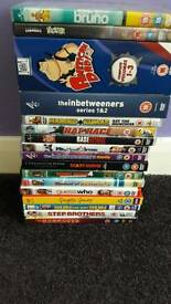 17 different dvds for sale
