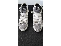 Adidas hi tops size 5 & a half worn once unisex,limted ed