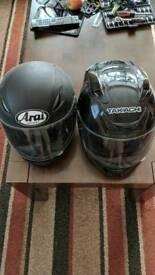 2 XL helmets HJC Takachi good condition