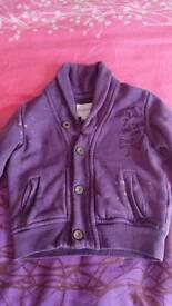 Diesel dark purple jacket 6-9 months, can post etc
