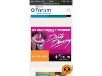 2 x Dirty Dancing Millenium Forum 17/2/17