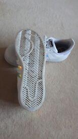 Adidas SUPERSTAR Ortholite white with reflective markings. Size ... UK 5 1/2 .