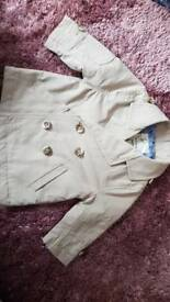 River island brand new 0-3 months boys mac coat
