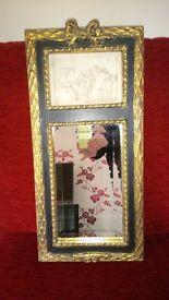 Small Vintage Style Mirror with Cherub Design