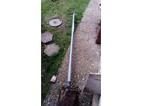 Metal washing line pole