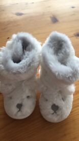 Babies white company booties