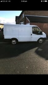 White ford transit van