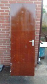 internal door, with handle, with lock