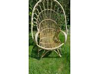 Garden chair, high back, made of Bamboo.