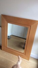 Large mirror - wooden frame