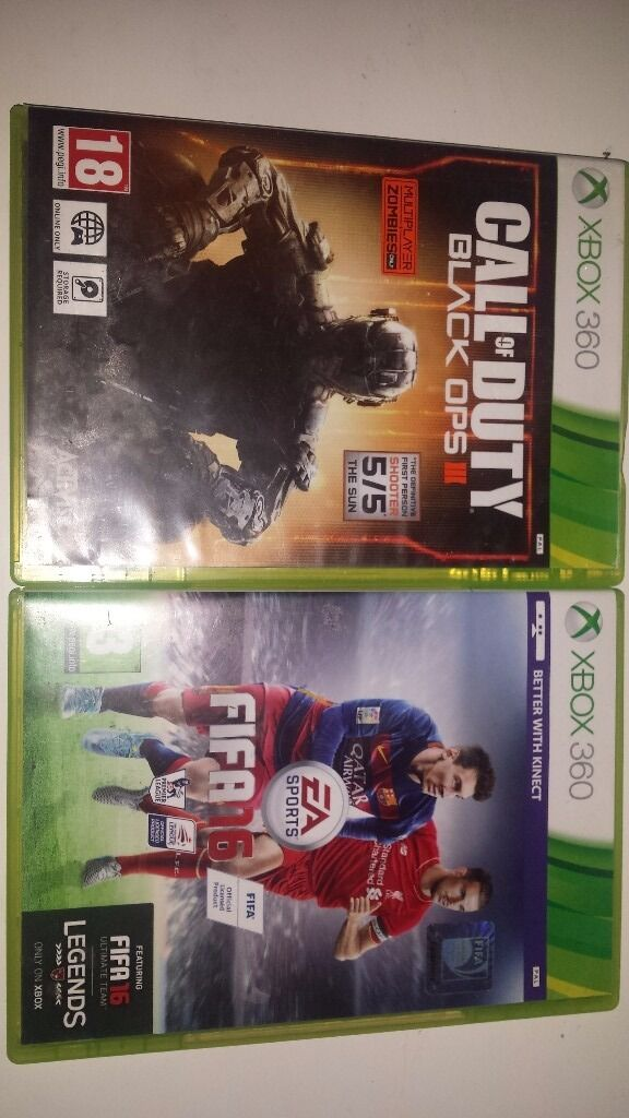 Black ops 3 and fifa 16 for xbox 360