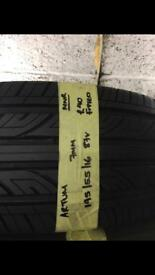 195/55/16 195-55-16 1955516 87V ARTUM 7MM TYRE FITTED £40