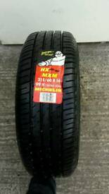 215/60-16 h rated Michelin tyre unused.