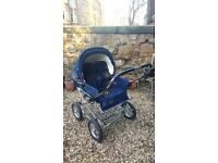 Vintage style double pram pushchair