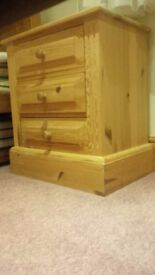 Pine Bedside Table - rustic style, in good condition